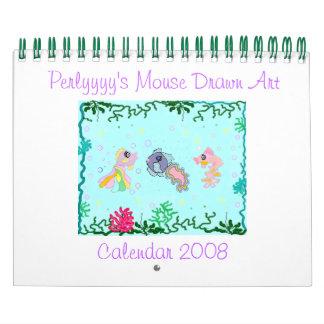 Perlyyyy's Mouse Drawn Art Wall Calendars