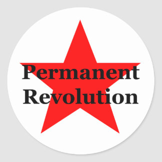 Permanent Revolution Round Sticker
