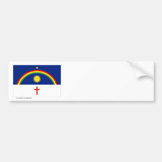 Pernambuco, Brazil Flag Bumper Sticker
