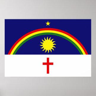 Pernambuco, Brazil flag Poster
