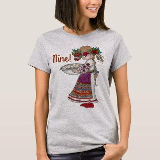 Perogie Pierogie Pyrohy Girl Ukrainian Folk Art T-Shirt