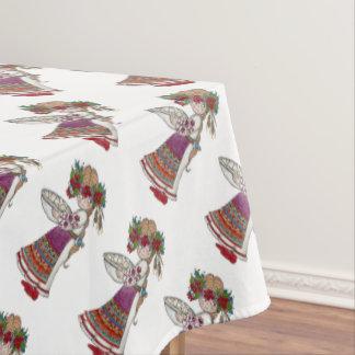 Perogie Pierogie Pyrohy Girl Ukrainian Folk Art Tablecloth