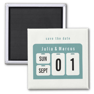 Perpetual Calendar Save the Date Wedding Magnet