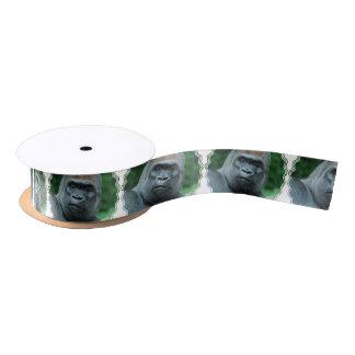 Perplexed Gorilla Satin Ribbon