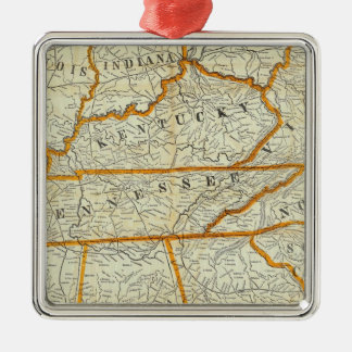 Perrine's New Topographical War Map Silver-Colored Square Decoration