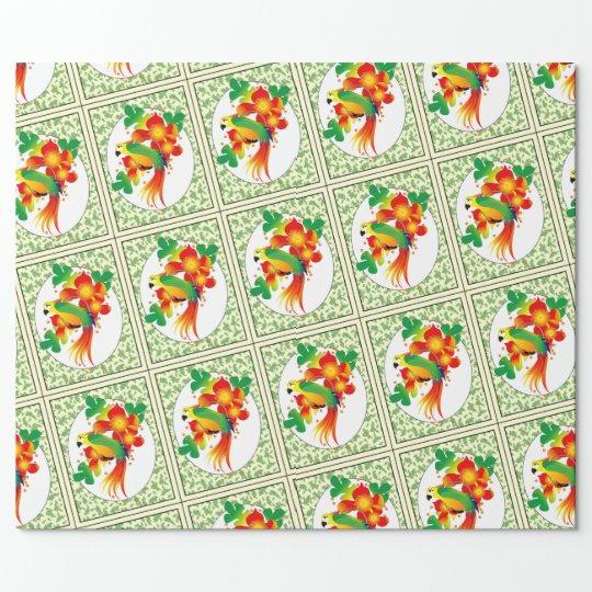 "PERROT BIRD 30"" x 60'    CARTOON Wrapping Paper"