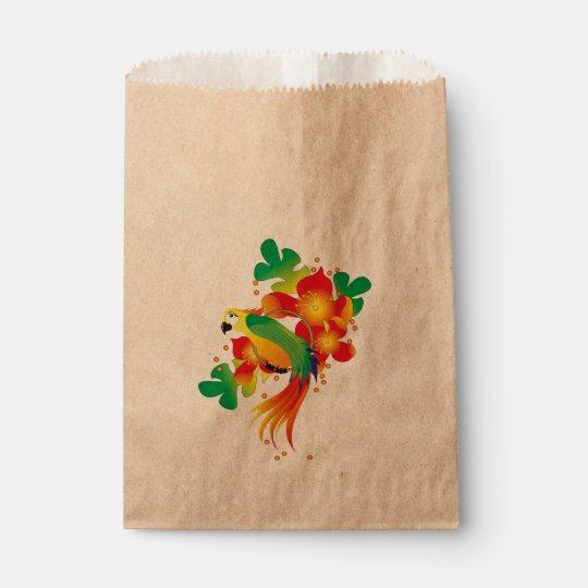 PERROT BIRD CARTOON  bag Kraft Favour
