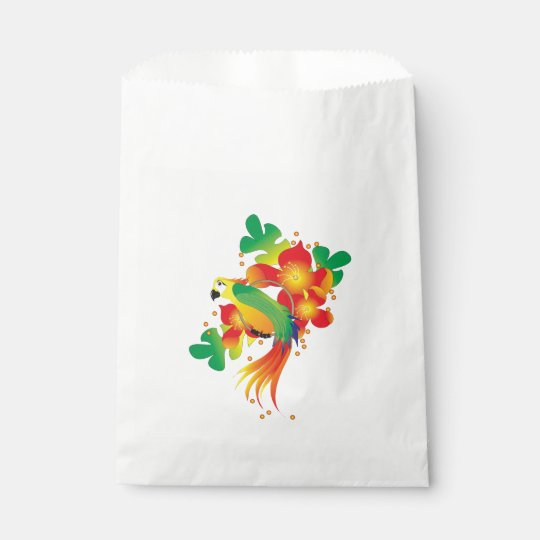 PERROT BIRD CARTOON  bag White Favour Favour Bags