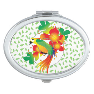 PERROT BIRD CARTOON compact mirror OVAL
