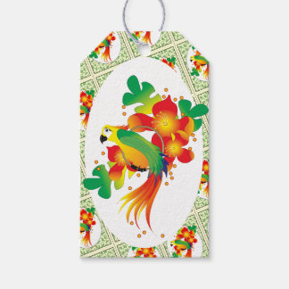 PERROT BIRD CARTOON GIFT TAG MATTE