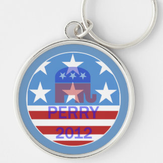 Perry 2012 Silver-Colored round key ring