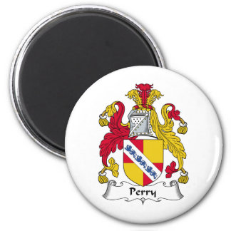 Perry Family Crest 6 Cm Round Magnet