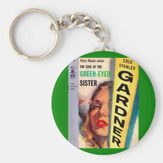Perry Mason Case of the Green-Eyed Sister Key Ring
