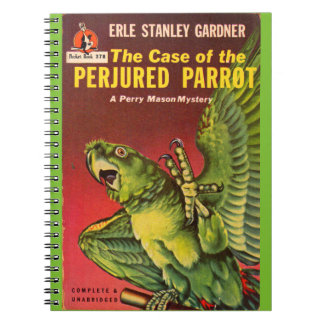 Perry Mason Case of the Perjured Parrot Notebook