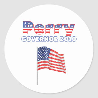 Perry Patriotic American Flag 2010 Elections Round Stickers