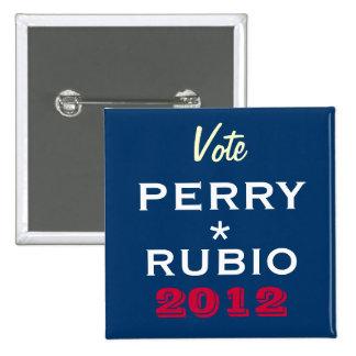 PERRY / RUBIO 2012 Campaign Button (Square)
