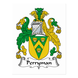 Perryman Family Crest Postcard