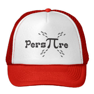 Pers-PI-re - Funny Pi Slogan - Cute Pi Day Gifts Mesh Hats