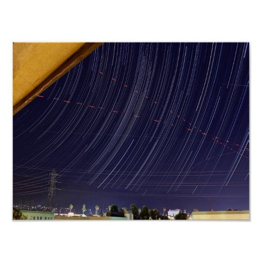 Perseid Meteor Shower Star Trail Poster