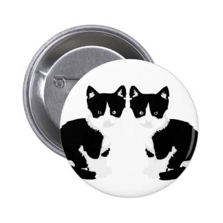 persephone&hades 'tuxedo cat' button