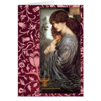 Persephone Pre-Raphaelite & Morris Card