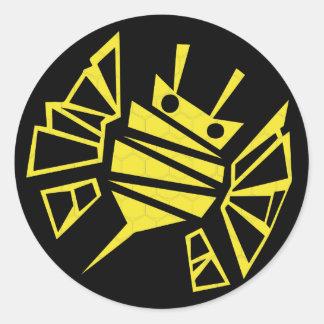 persephones bee-comb classic round sticker