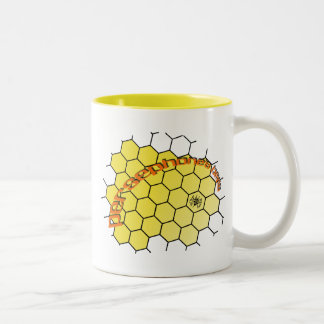 persephonesbees-yellow-comb Two-Tone mug