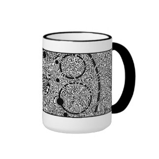 'Perseus Amongst the Spheres' (crop section) NEG Ringer Mug