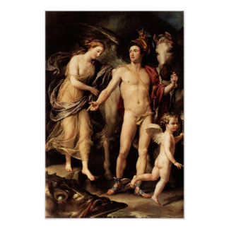 Perseus and Andromeda by Mengs Print