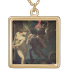 Perseus and Andromeda, c.1610 (oil on canvas) Gold Plated Necklace