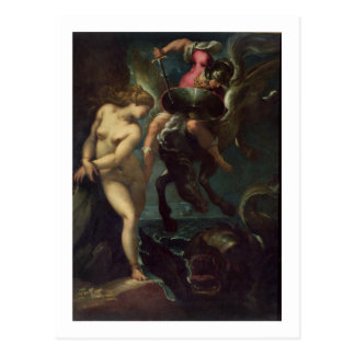 Perseus and Andromeda, c.1610 (oil on canvas) Postcard