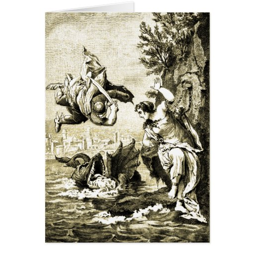 Perseus and Andromeda Greeting Cards