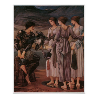 Perseus and the Sea Nymphs by Burne-Jones Poster