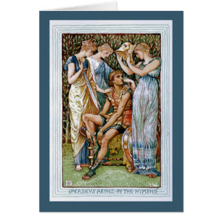 Perseus armed by the Nymphs Greeting Card