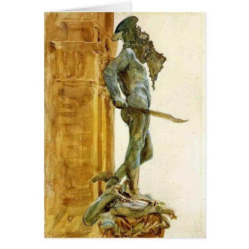 Perseus, Florence  by John Singer Sargent Greeting Card