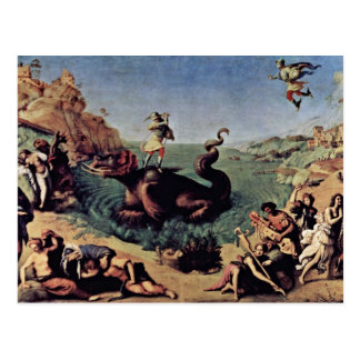 Perseus Freed Andromeda By Piero Di Cosimo Post Cards
