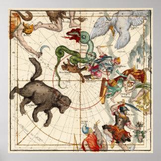 Perseus, Hercules, Cassiopea and  Andromeda Print