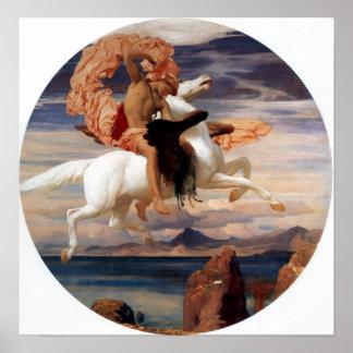 Perseus On Pegasus Poster