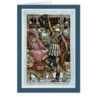 Perseus Showing the Gorgon s Head Greeting Card