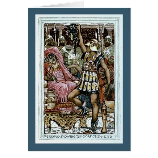 Perseus Showing the Gorgon's Head Greeting Card
