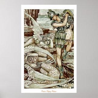Perseus Slaying Medusa Poster