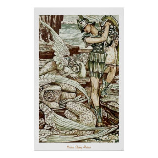 Perseus Slaying Medusa Posters