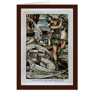 Perseus the Gorgons Greeting Cards