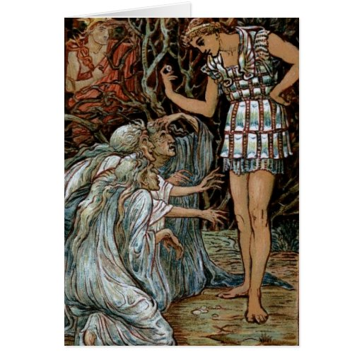 Perseus & the Graiae Greeting Card