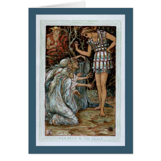 Perseus the Graiae Greeting Card