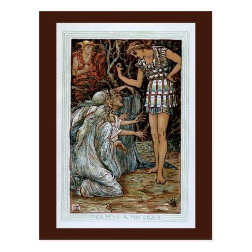 Perseus & the Graiae Postcard