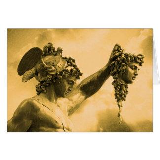 Perseus vs Medusa Greeting Card
