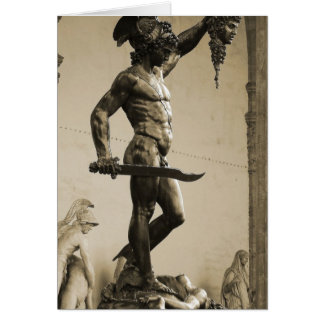 Perseus with the head of Medusa Greeting Cards