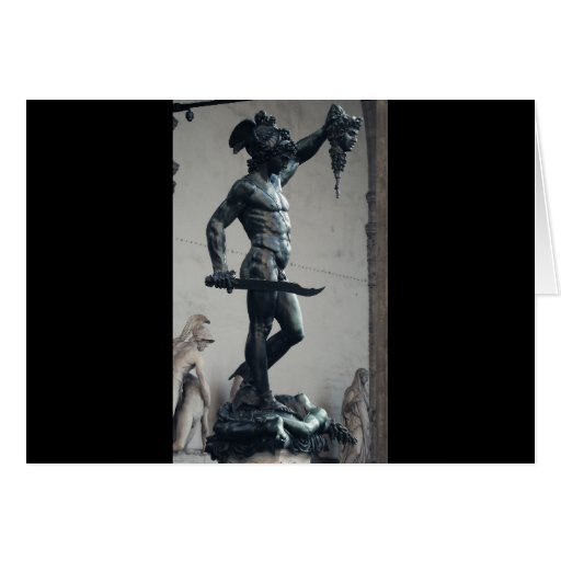 Perseus With The Head Of Medusa Card