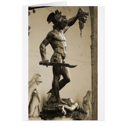 Perseus with the head of Medusa Cards